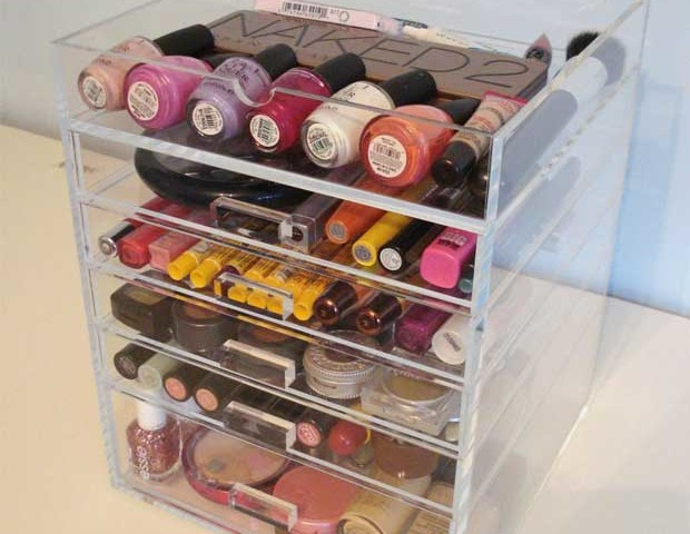 Acrylic Makeup Organizer with Drawers Seen on Kardashians
