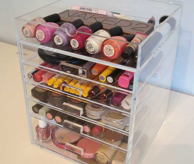 Acrylic-Makeup-Organizer-with-Drawers-Seen-on-Kardashians